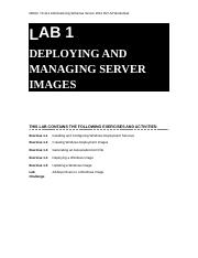 Lab Worksheet Lesson 01 Deploying And Managing Server Images