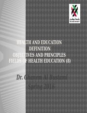 Health and Education 8