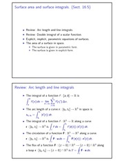 Surface area and surface integrals 2