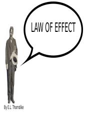 LAW OF EFFECT - CLASSICAL CONDITIONING