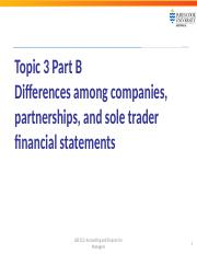 LB5212 Topic 3 Part B DIfference in financial statements with different ownership structures