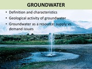 14 - Groundwater