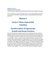 Module Two Lesson One Video Transcript.pdf