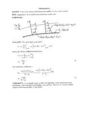 ME 321 - Homework 7 Boundary Layer Solutions