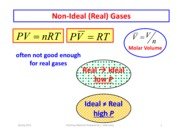 Non Ideal Gases part 1