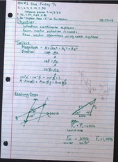 EG201 Coordinate Systems Notes