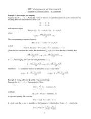 MATH 557 Intervation Estimation Example Notes