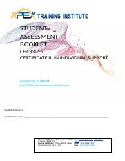 SAB CHCCCS015 Provide individualised support.docx
