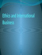 Ethics and International   Business.pptx