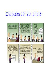 17 - Chapters 19, 20, and 6 Slides-2