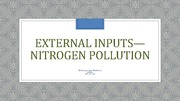 Nitrogen Pollution Lecture