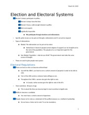 Election and Electoral Systems