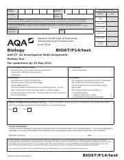 AQA-BIO6T-P14-TEST-JUN14
