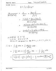 Math 122 Quiz 5 Solutions