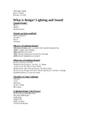 What is design lighting and sound