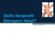 Skills NonProfit Managers need