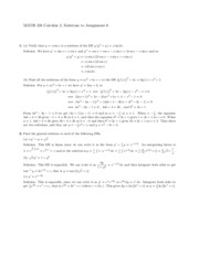 Assignment 6 Solutions