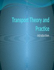 L1 Transport Theory and Practice.pptx