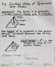 Geometry Chapter 9.3 Surface Area Notes