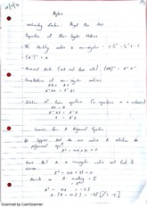 Properties of Non Singular Matrices Lecture Notes 7
