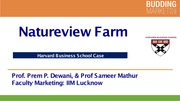 nature view farms harvard business case Case studies are narratives that tell the story of an actual business with a real problem or strategy many business schools use real case studies as a teaching tool in the classroom if you attend a graduate business program, such as an mba program, you could look at hundreds, or even of thousands.