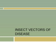 20 Insect Vectors of disease