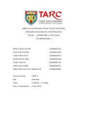 tarc coursework mark