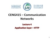 Lecture 4 -app layer- http