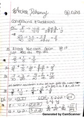 MATH 110 conversions and reductions