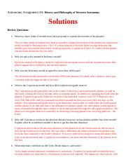 Astronomy HW 04 History and Philosophy of Western Astronomy Solutions Spring 2014.docx