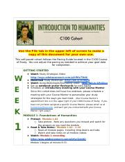 C100 Introduction to Humanities SELF-PACED COHORT.docx