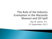 2013-09-25 The Role of the Industry Exemption in the