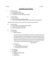 RST 101 Jewish Beliefs, Customs, & Practices Handout (1)