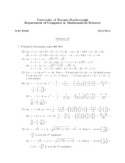 Exam Solutions 6