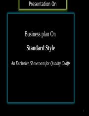 Business-plan-on-Standard-Style-a-Showroom-for-Quality-Crafts.ppt