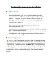 The Scientific Study of Life Ch 1 notes (2).docx