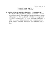 CS 32 Homework 3 FAQ