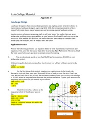 JD MAT 116 Week 4 Assignment Solving and Graphing Equations Appendix D