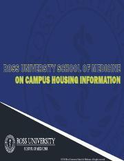 ROSS UNIVERSITY ON CAMPUS HOUSING INFORMATION 6616