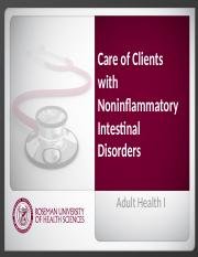 2.5 Care_of_Clients_with_Noninflammatory_Intestinal_Disorders.pptx
