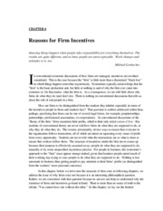 Chapter 6 Reasons for Incentives