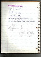 Notes on Motion in 2D