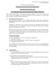 A-03 general requirements on student workload in fieldwork placement_2013