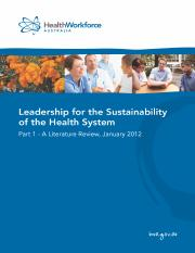 leadership-for-sustainability-of-health-sector-literature-review-2012