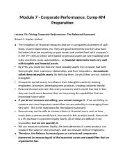 Module 7 Study Guide Notes for Strategy Management.docx