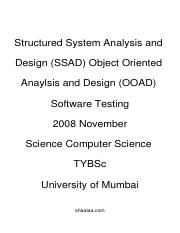 (www.entrance-exam.net)-SSAD, OOAD Software Testing Sample Paper 4