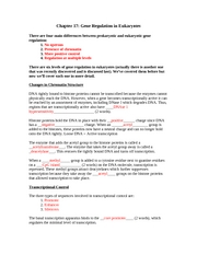 Chapter 16 Worksheet Part 2 - Chapter 16 Control of Gene ...