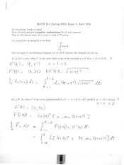 Math 2415 Midterm Version 3 and Solutions