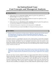 Cost Concepts and Managerial Analysis - Model Solution.pdf