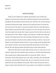Animal Testing Research Paper.doc